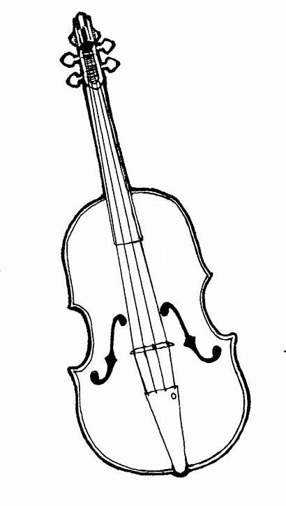 Violin Clip Clipart Viola Drawing Cliparts Fiddle