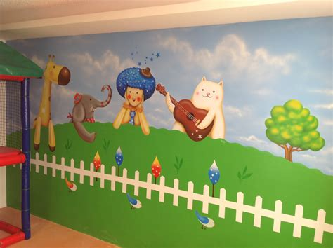 murales infantiles  arte decorativo pintado  mano por