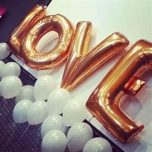 metallic foil letter balloon With metallic letter balloons