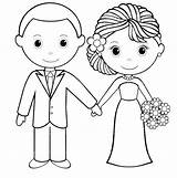 Groom Coloring Bride Template Card Sketch Coloringpagesfortoddlers Printable Couple Activity Reception Busy sketch template