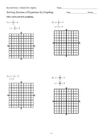 solving systems of equations by graphing worksheet free