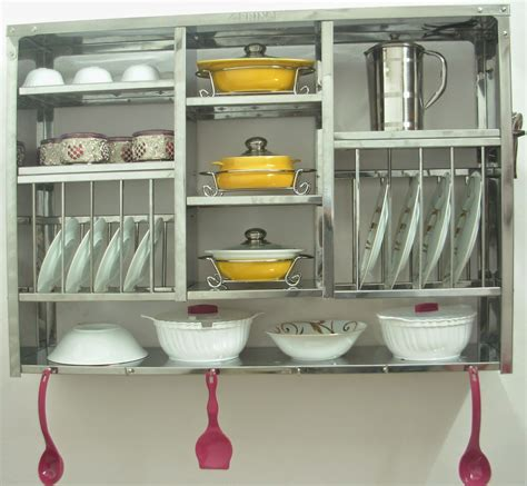 stainless steel kitchen plate rack dish dryer display rack stainless steel wall hanging