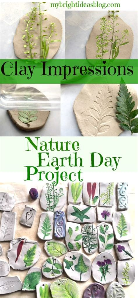nature craft perfect  earth day activity clay