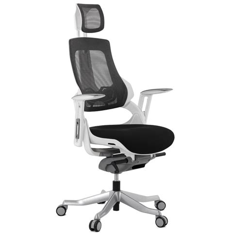 chaise de bureau ergonomique fauteuil de bureau ergonomique teknik design en tissu noir