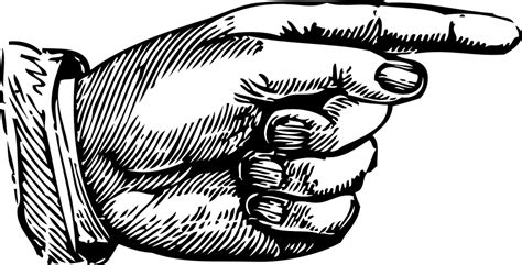 pointing finger clipart free vector graphic pointing index finger left