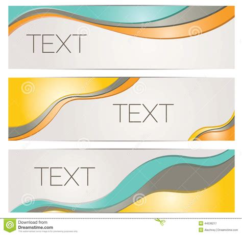 Header Banner Background Templates Stock Vector