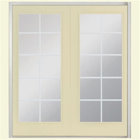 masonite patio doors with mini blinds masonite 60 in x 80 in willow wood prehung right