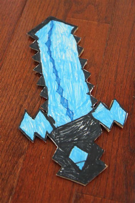 toddler approved diy cardboard minecraft sword  printable