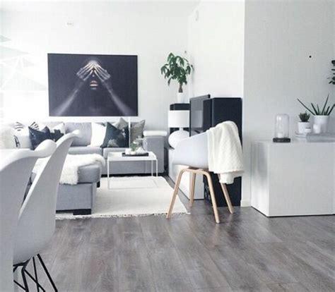 idee deco salon gris et blanc
