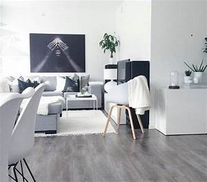 idee deco salon gris et blanc With idee deco salon gris et blanc