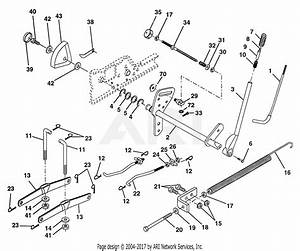 Poulan Pp24h50a Tractor Parts Diagram For Lift Assembly