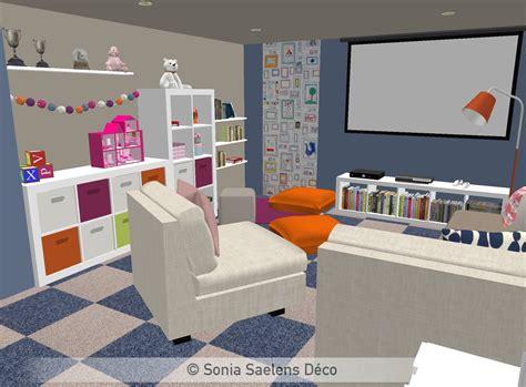 deco chambre orange projet client un sous sol aménagé en salle de jeux