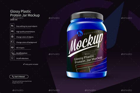 You can now use this milk plastic bottle mockup to showcase your product packaging design in a photorealistic look. Glossy Plastic Protein Jar Poster Mockup by _Reformer_ ...
