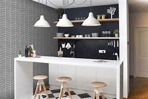 modele papier peint cuisine relooking cuisine pour With delightful couleur papier peint tendance 12 quelle couleur choisir pour la salle de bain trouver