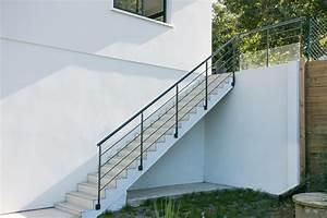 Escalier Exterieur Metal : garde corps metal ext rieur fabrication et pose ~ Voncanada.com Idées de Décoration