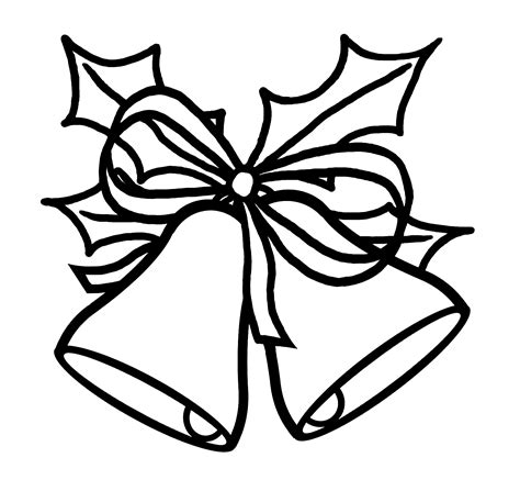 christmas picture outline quot bells quot coloring pages holidays and observances