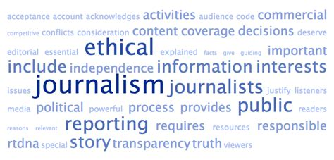 Journalism Code Of Ethics by New Broadcast Journalism Ethics Code From Rtdna Compared