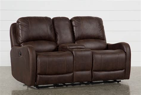 Power Reclining Loveseats With Console by Davor Brown Power Reclining Loveseat With Console Living