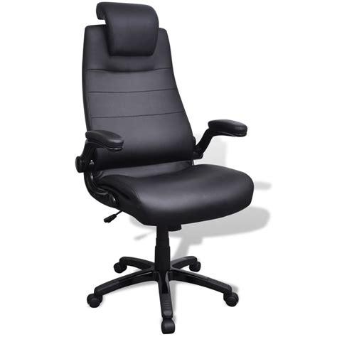 chaise pivotante pas cher acheter chaise pivotante réglable avec accoudoir en cuir artificiel noir pas cher vidaxl fr