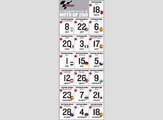 Calendario de MotoGP 2018 Fechas, horario y circuitos