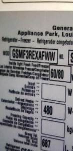 Gsmf3rexafww Service Manual