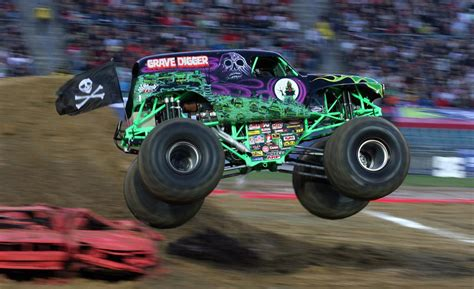 grave digger monster truck car and driver