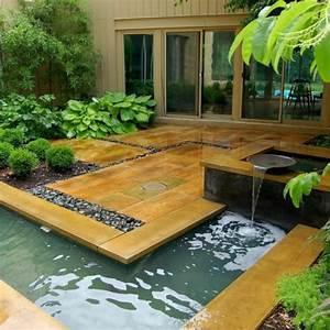 decoration terrasse avec fontaine With amenagement terrasse piscine exterieure 7 objet deco jardin jardideco fr