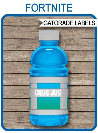 fortnite chug jug printable labels fortnite party
