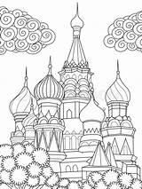 Coloring Cathedral Simple Arte Line Colouring Banderas Basil Colorear Mundo Imagenes Colourbox Basilio Catedral Lineal Linea San Coloriage Castle Dibujos sketch template