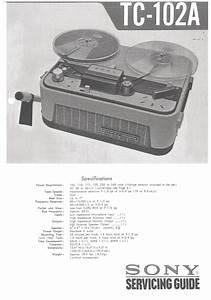 Sony Tc102a Service Manual