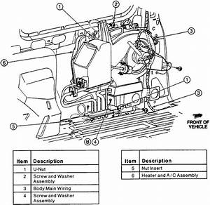 2002 Ford Windstar Heater Hose Diagram