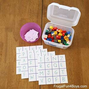 learn your letters alphabet bingo game frugal fun for With learn your letters game