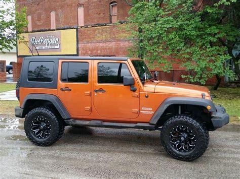 jeep wrangler mango tango orange   lift