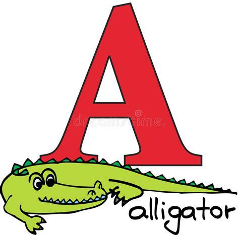 Animal Alphabet A (alligator) Stock Vector Illustration