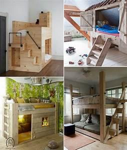 Lit Maison Bois : lit enfant original fabriquer soi m me et id es de ~ Premium-room.com Idées de Décoration
