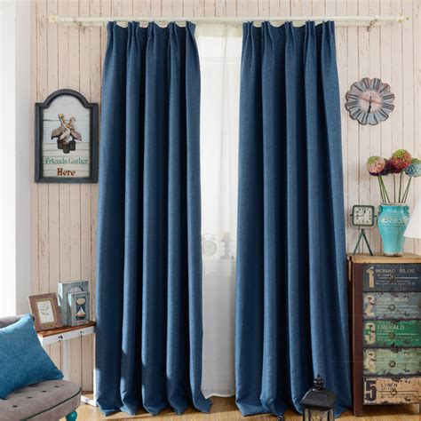 blackout curtains modern style hook drapes linen solid
