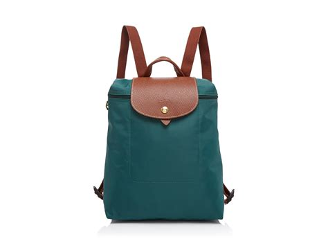 lyst longchamp backpack le pliage  green