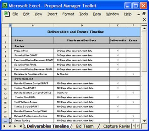 proposal forms  checklists  ms word  excel