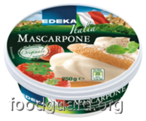 edeka italia mascarpone naehrwerte inhaltsstoffe