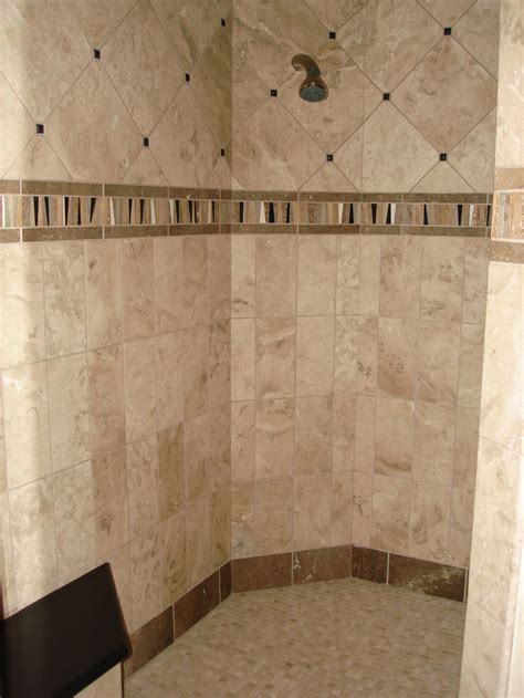 cool ideas travertine tile  shower walls  pictures