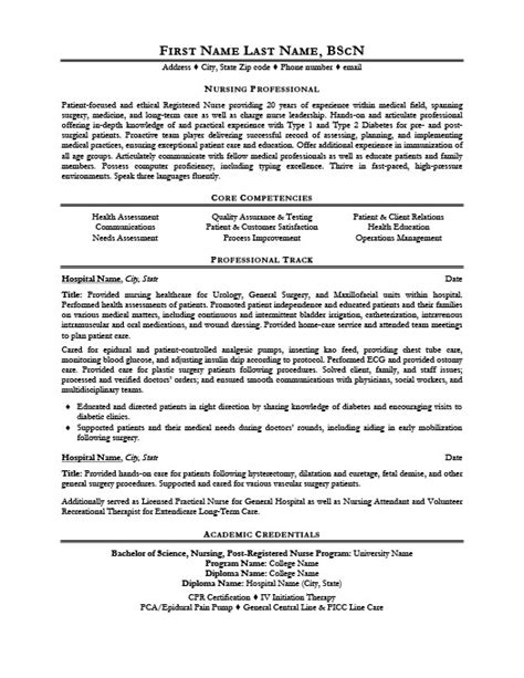 Professional Nursing Resume Template by Nursing Professional Resume Template Premium Resume