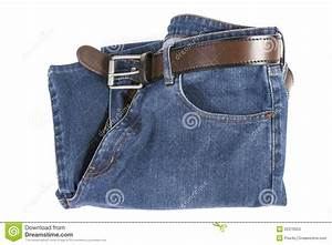 Blue Jeans With Brown Leather Belt Stock Photos - Image 26376553
