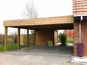 Construire Un Carport : cerisier abri de jardin 3 carport adoss233 en bois pour ~ Premium-room.com Idées de Décoration