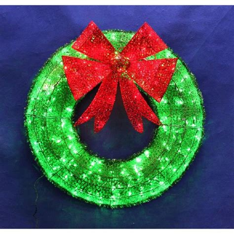 lighted christmas wreath outdoor outdoor lighted wreaths lights decoration
