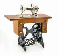 antique sewing machine table Antique Silver Metal Sewing Machine Table 1/12 Doll's ...