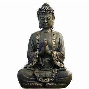 Statue Bouddha Interieur : statue bouddha achat vente statue bouddha pas cher cdiscount ~ Teatrodelosmanantiales.com Idées de Décoration