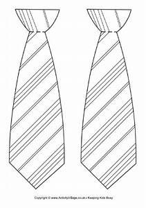 Striped Tie Template