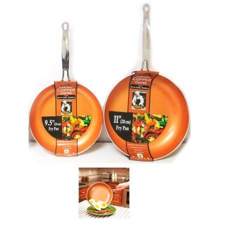 ceramic copper coated  stick fry pan set eco pfoa  cookware   walmartcom