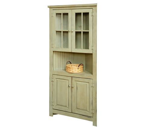Cupboard With Glass Doors by Farmhouse Corner Cupboard With Glass Doors Farmhouse And