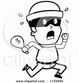 Coloring Running Clipart Burglar Bag Robber Cartoon Pages Cash Money Criminals Royalty Cory Thoman Bank Robbers Vector Outlined Rf Clipartpanda sketch template